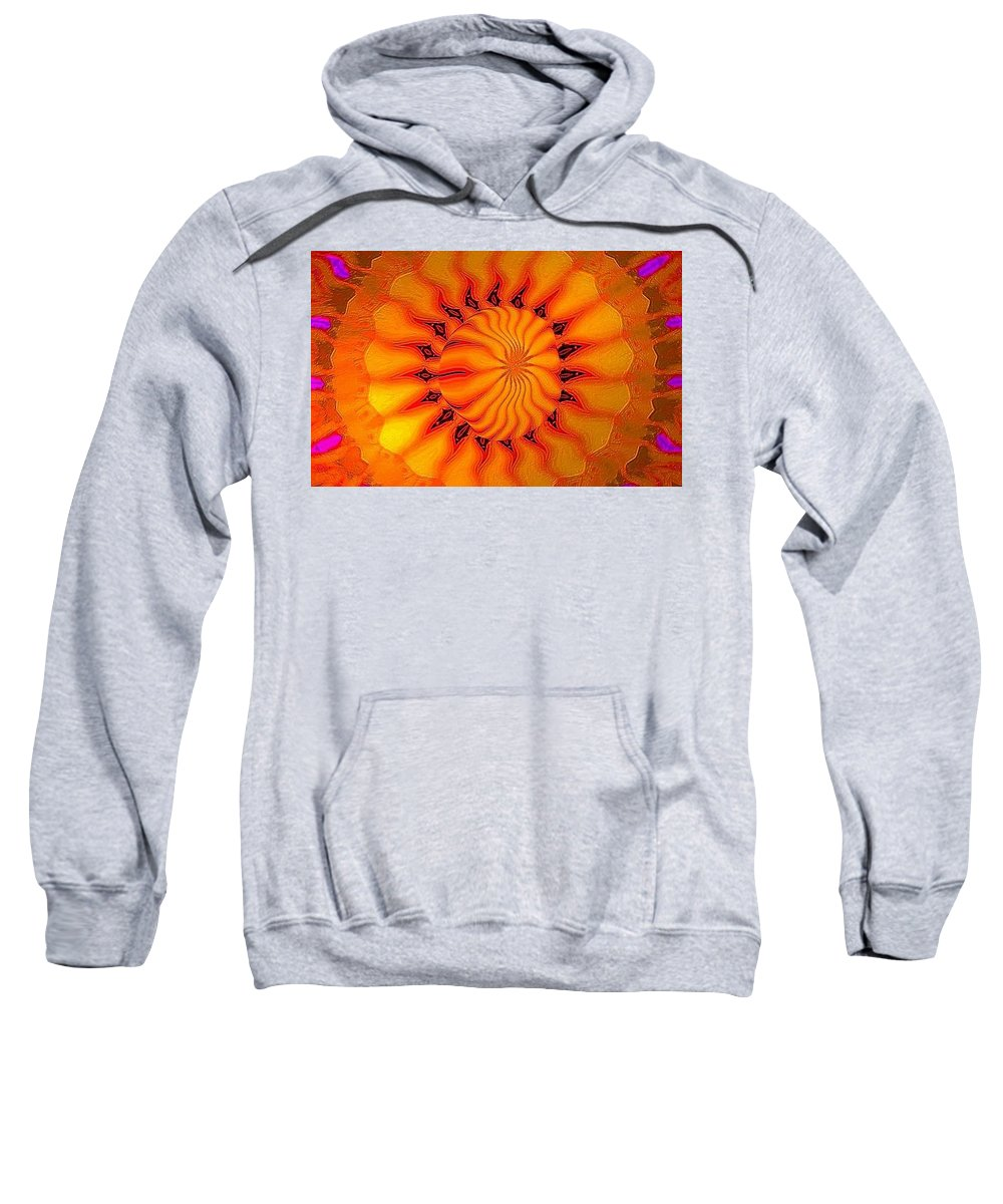 Sun Sweatshirt featuring the digital art Enlighten Me by Robert Orinski