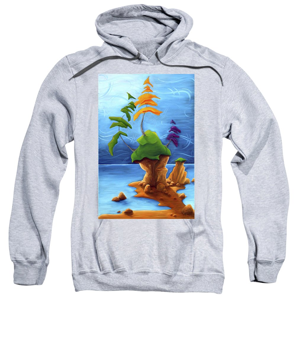 Landscape Sweatshirt featuring the painting Enraptured by Richard Hoedl