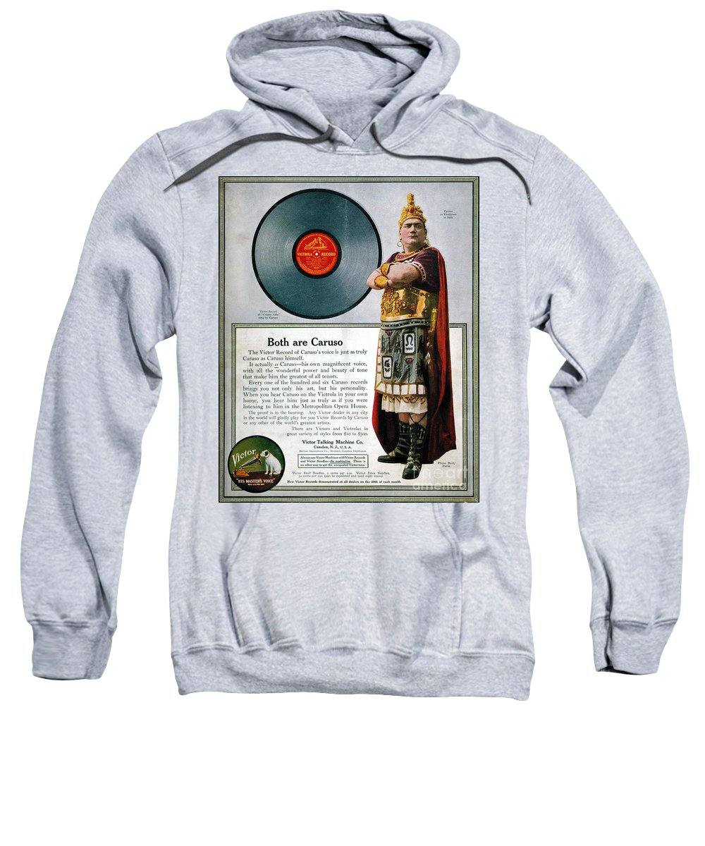 1914 Sweatshirt featuring the photograph Enrico Caruso (1873-1921) by Granger