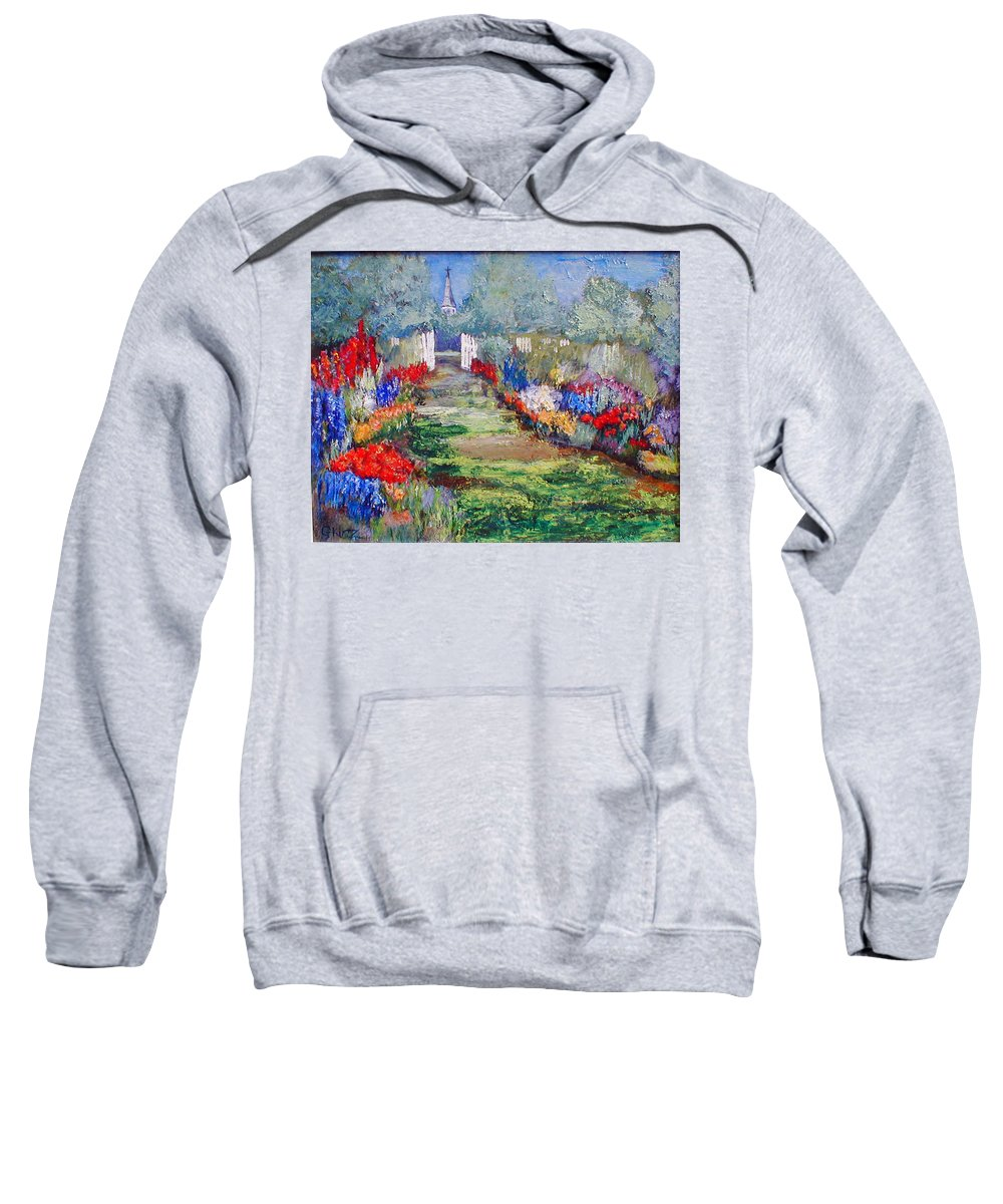 Landscape Sweatshirt featuring the painting Enter His Gates by Gail Kirtz