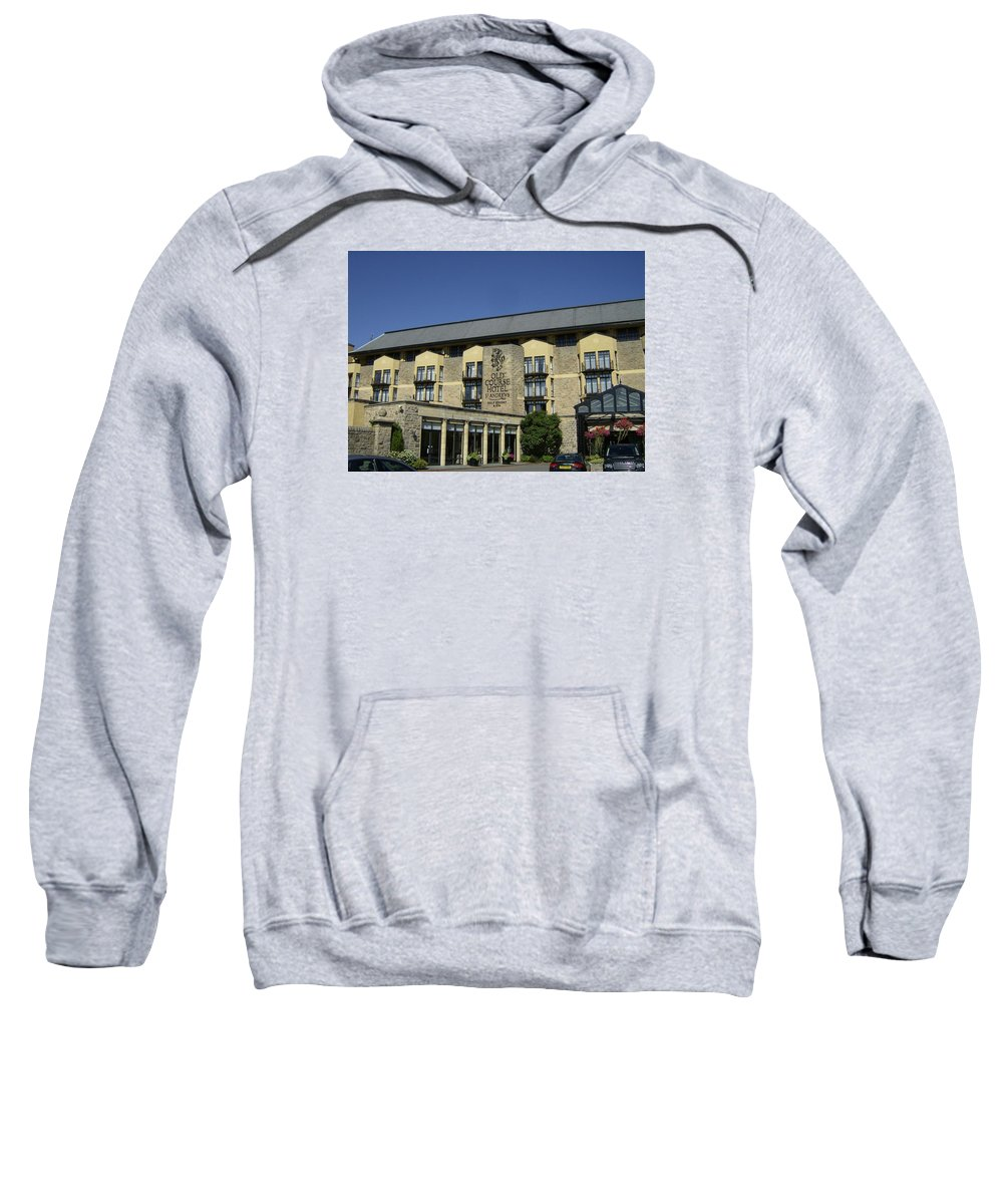 Old Course Sweatshirt featuring the photograph Entrance To The Old Course Hotel by Adrian Wale
