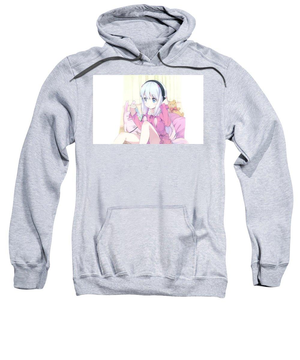 Eromanga-sensei Sweatshirt featuring the digital art Eromanga-sensei by Bert Mailer