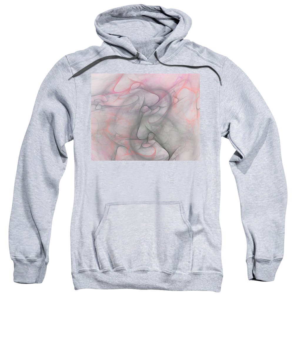 Digital Painting Sweatshirt featuring the digital art Erotica by David Lane