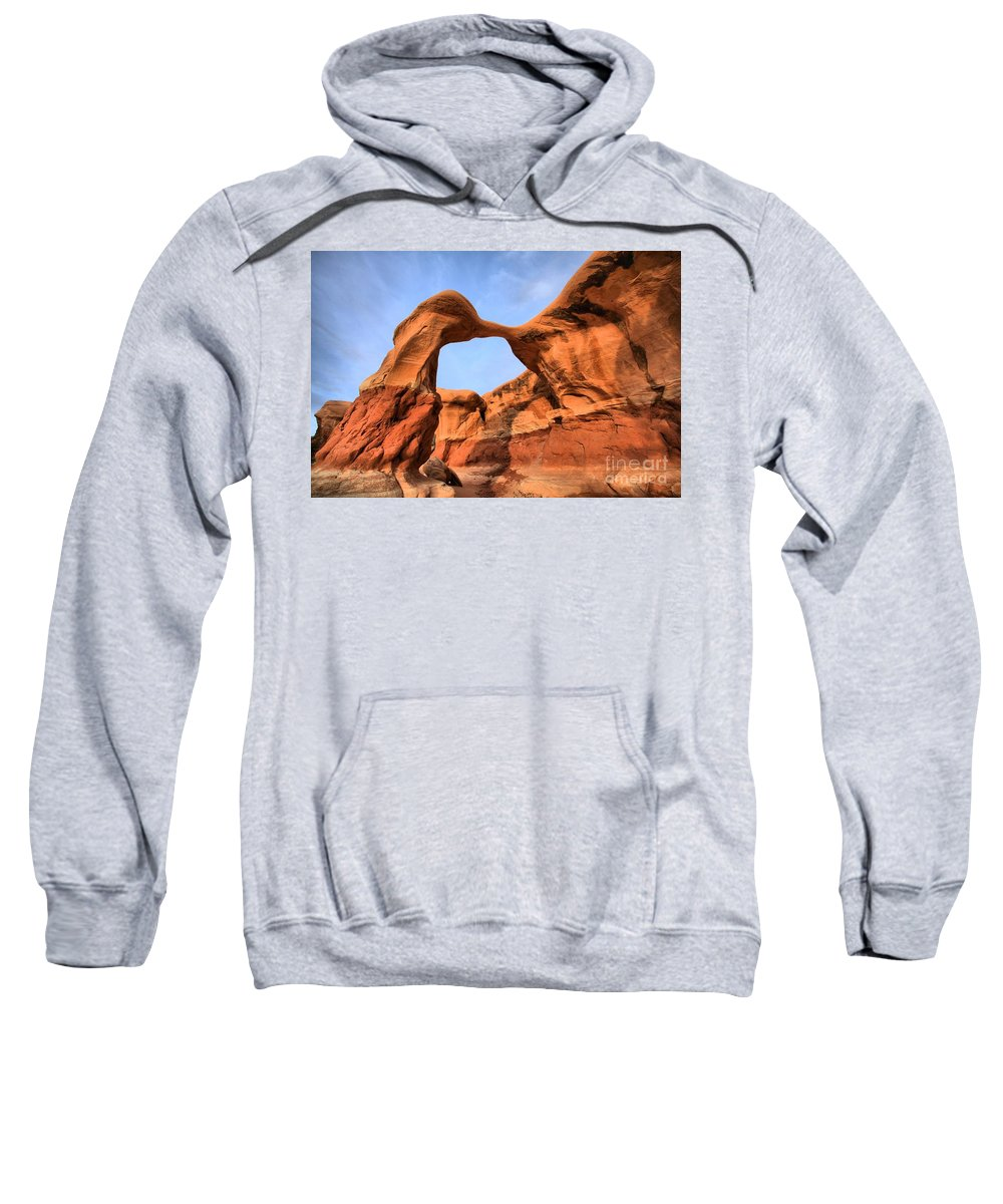 Metate Arch Sweatshirt featuring the photograph Escalante Metate Arch by Adam Jewell