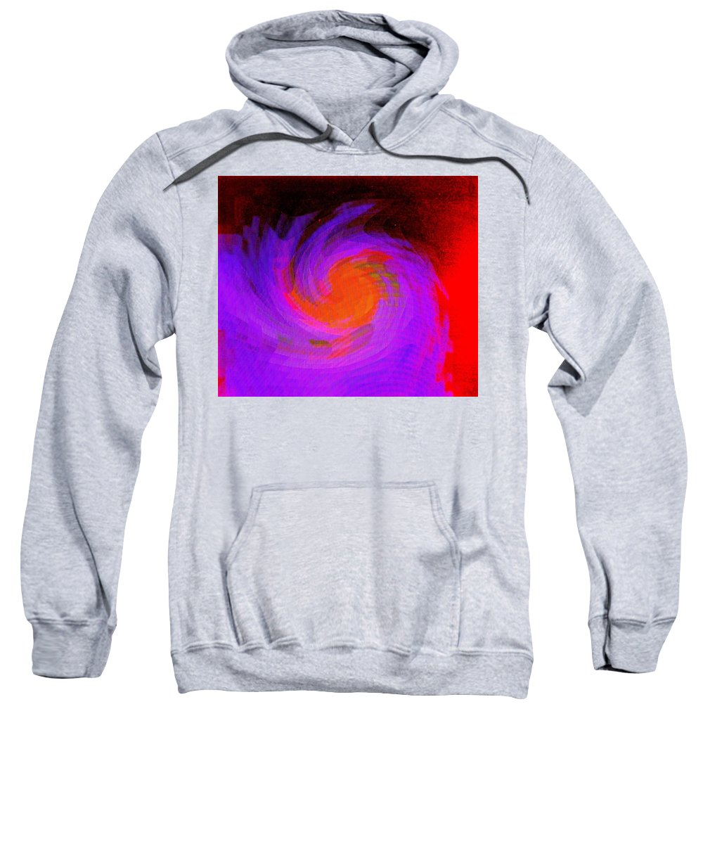 Abstract Sweatshirt featuring the digital art Escape by Ian MacDonald