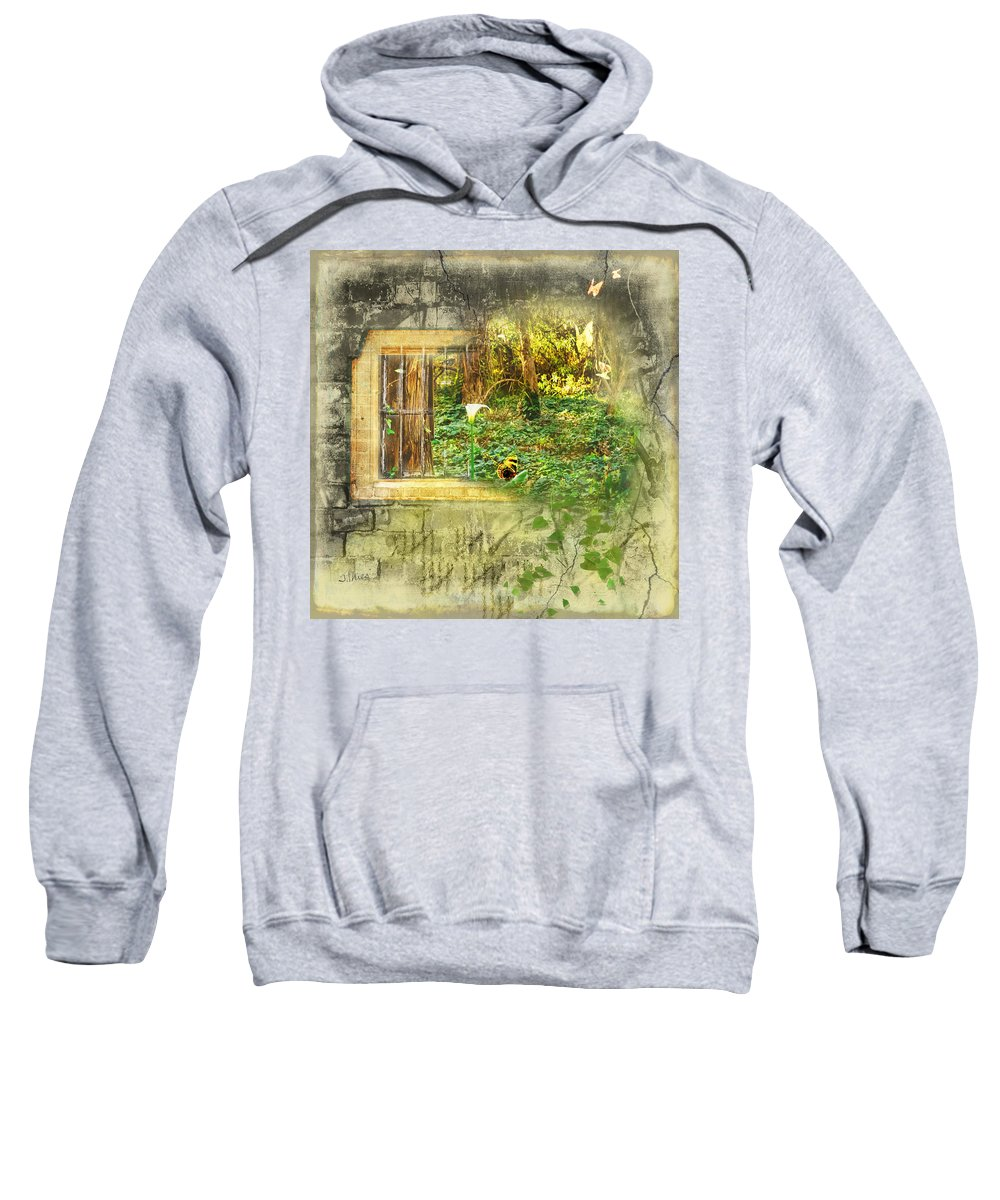 Brick Sweatshirt featuring the photograph Escape by Julie Thies