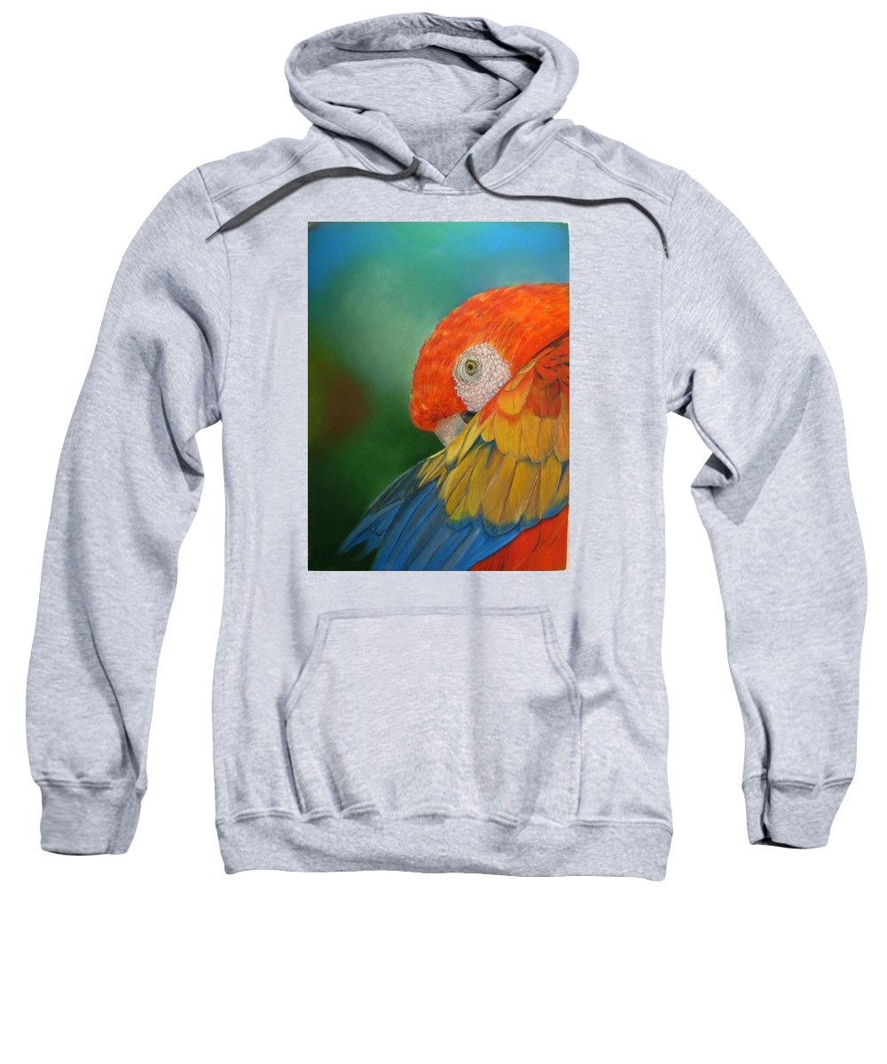 Bird Sweatshirt featuring the painting Escondida by Ceci Watson