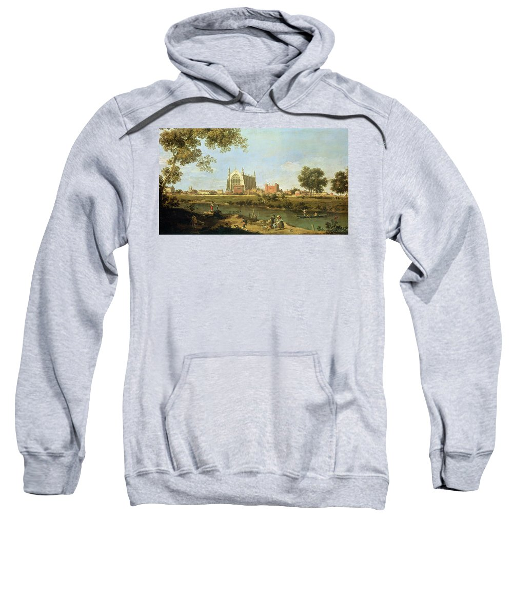 Eton Sweatshirt featuring the painting Eton College by Canaletto