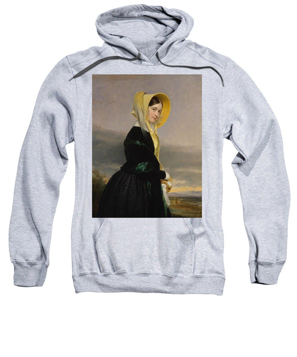 American Artist Sweatshirt featuring the painting Euphemia White Van Rensselear by George Peter Alexander Healy