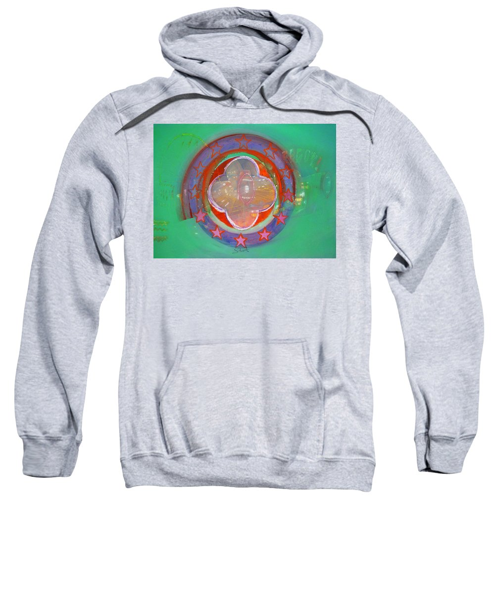 Symbol Sweatshirt featuring the painting European Merry-go-round by Charles Stuart