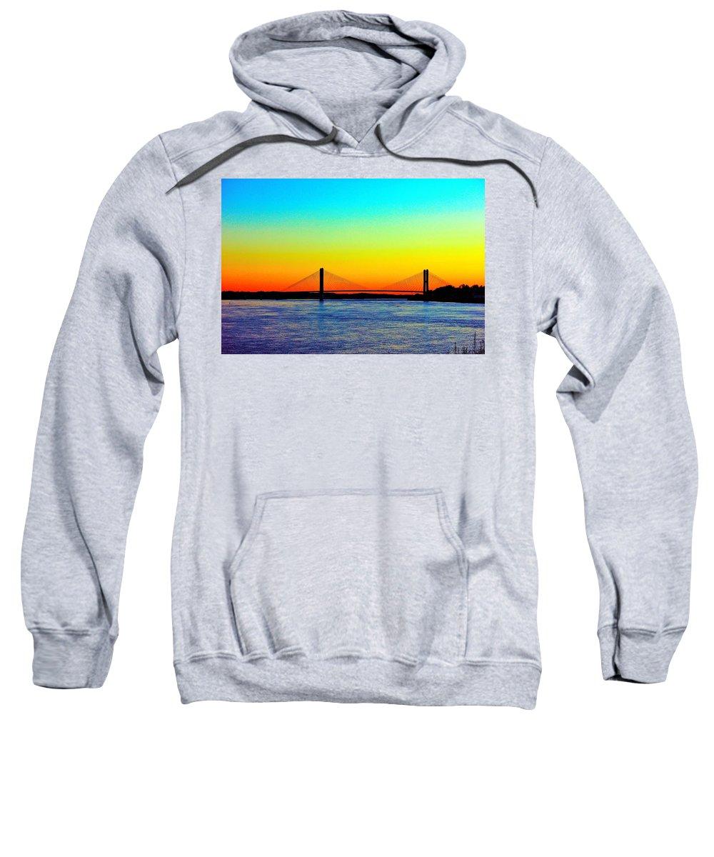Bridge Sweatshirt featuring the photograph Evening Bridge by Robert Cox