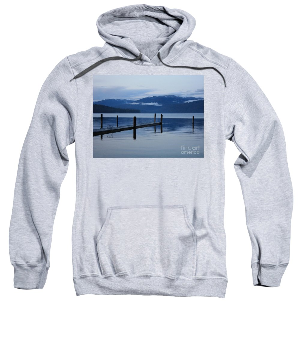 Priest Lake Sweatshirt featuring the photograph Tranquil Blue Priest Lake by Carol Groenen