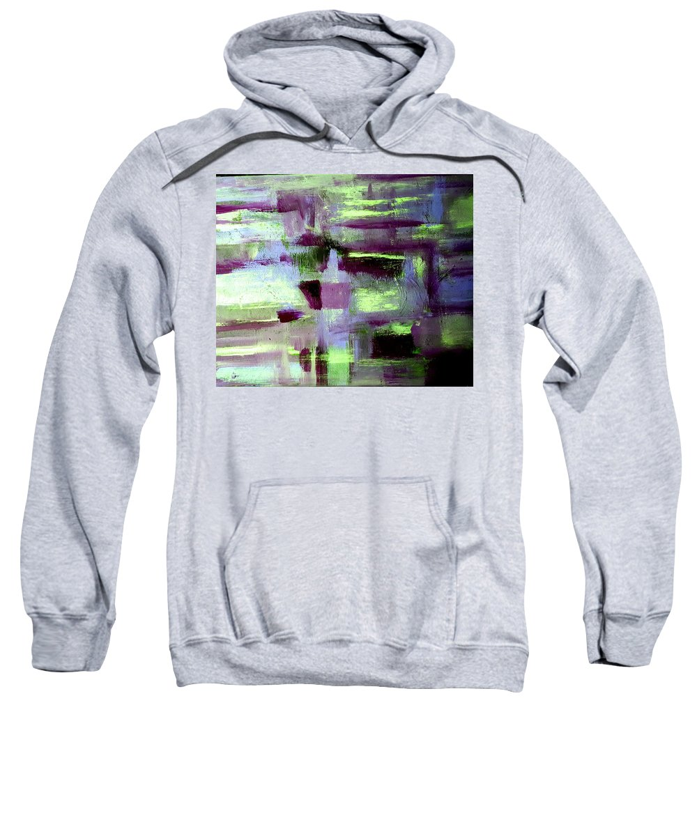 Abstract Sweatshirt featuring the painting Evening Glow by Nikki Dalton