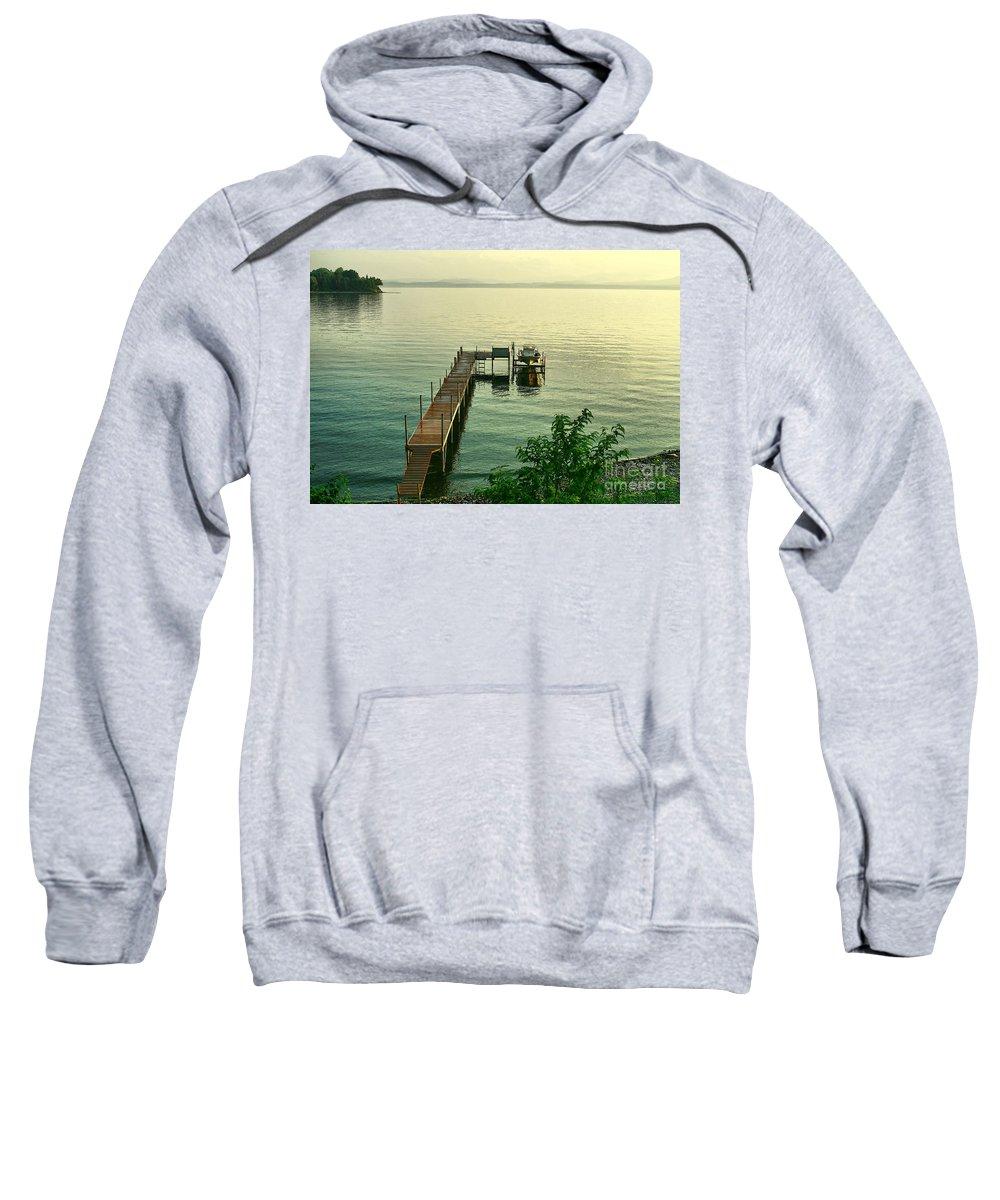 Lake Sweatshirt featuring the photograph Evening In Charlotte by Deborah Benoit