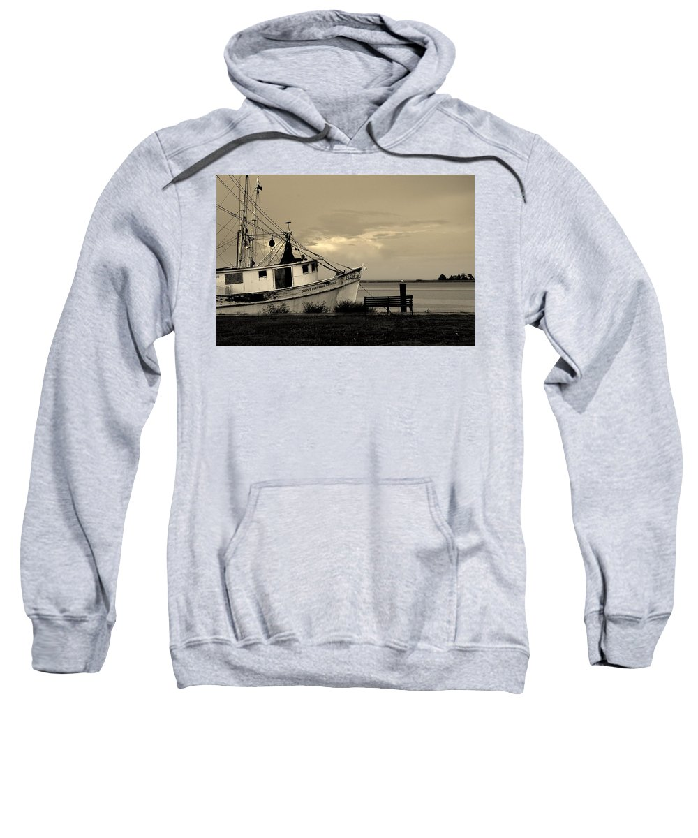 Harbor Sweatshirt featuring the photograph Evening In The Harbor by Susanne Van Hulst