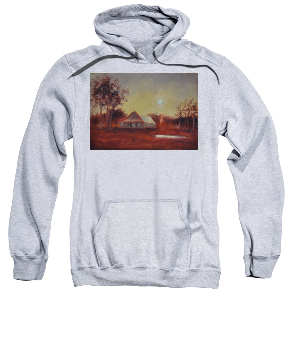 Sunsets Sweatshirt featuring the painting Evening Light by Ginger Concepcion