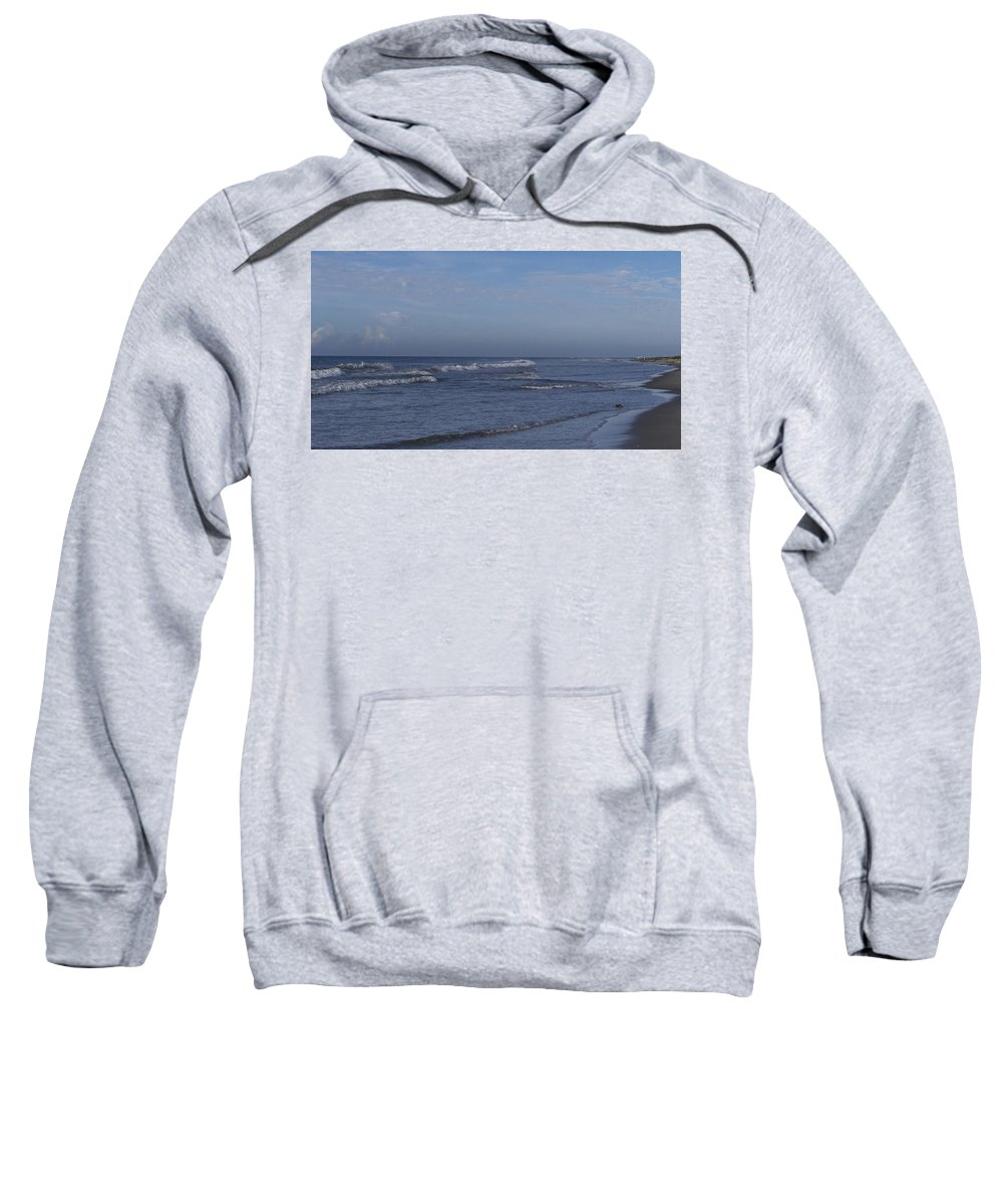 Ocean Sweatshirt featuring the photograph Evening On The Beach by Teresa Mucha