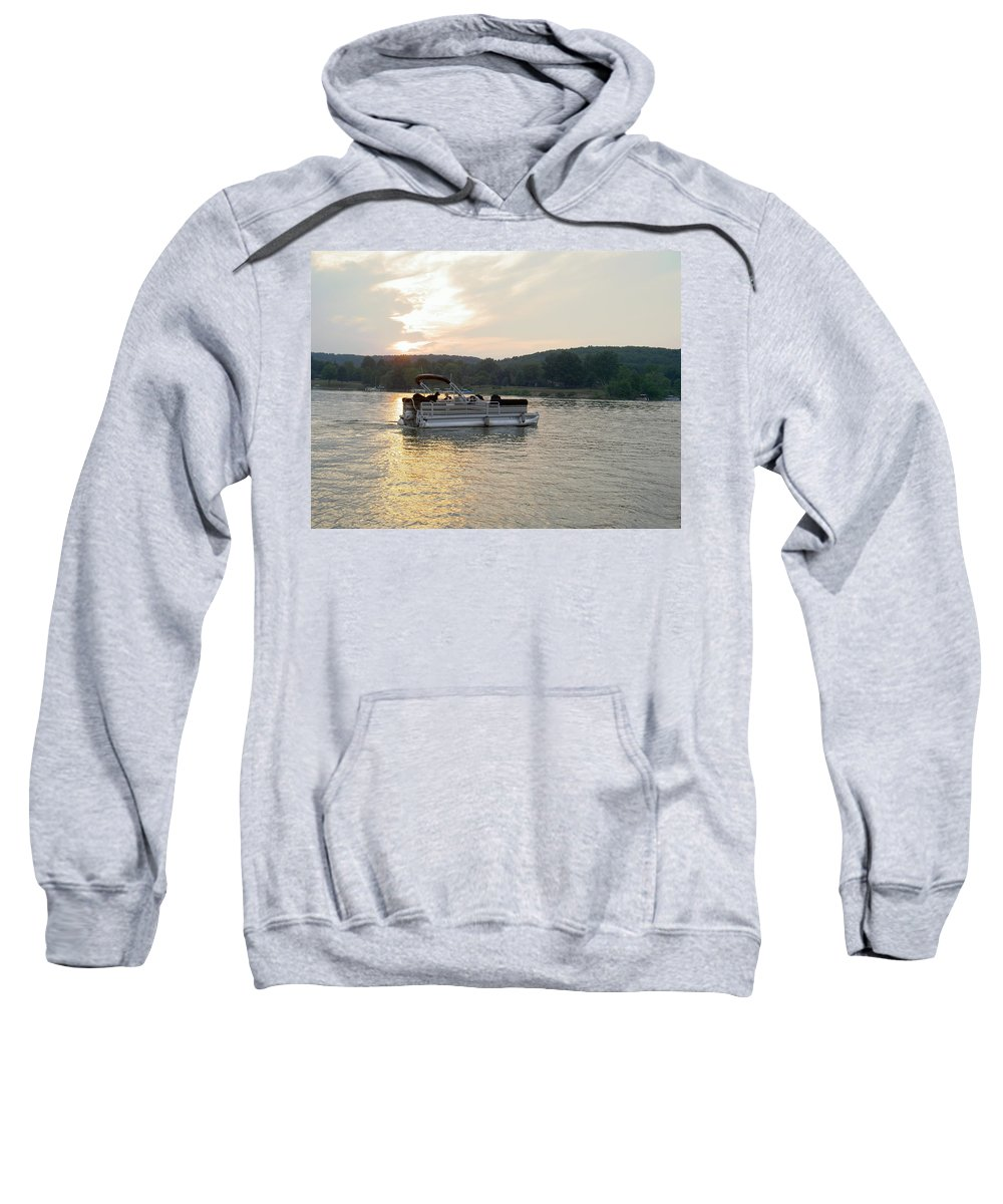Boating Sweatshirt featuring the photograph Evening On The Lake by Carolyn Jacob