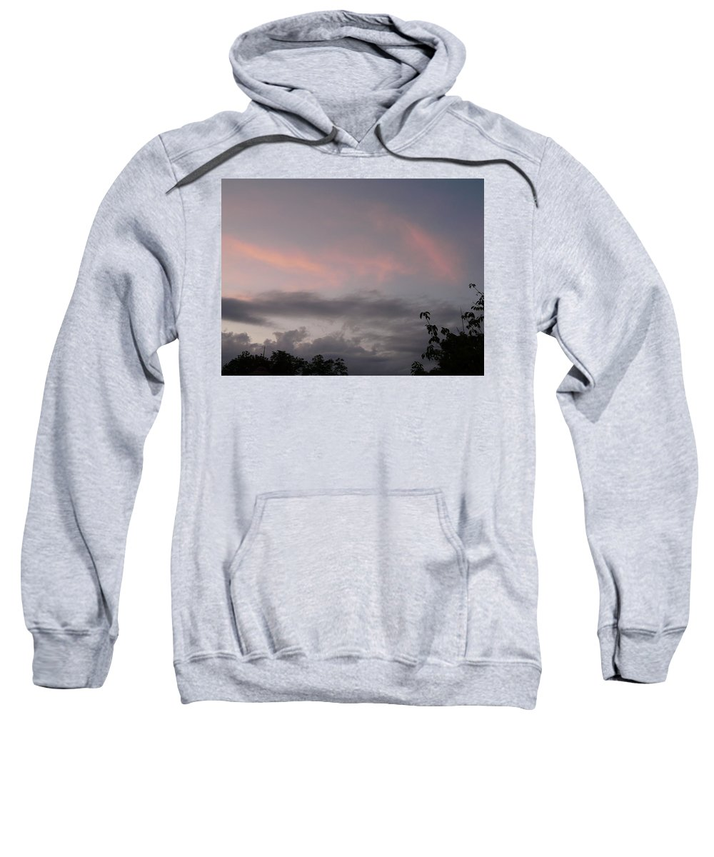 Sky Sweatshirt featuring the photograph Evening Sky by Valerie Ornstein