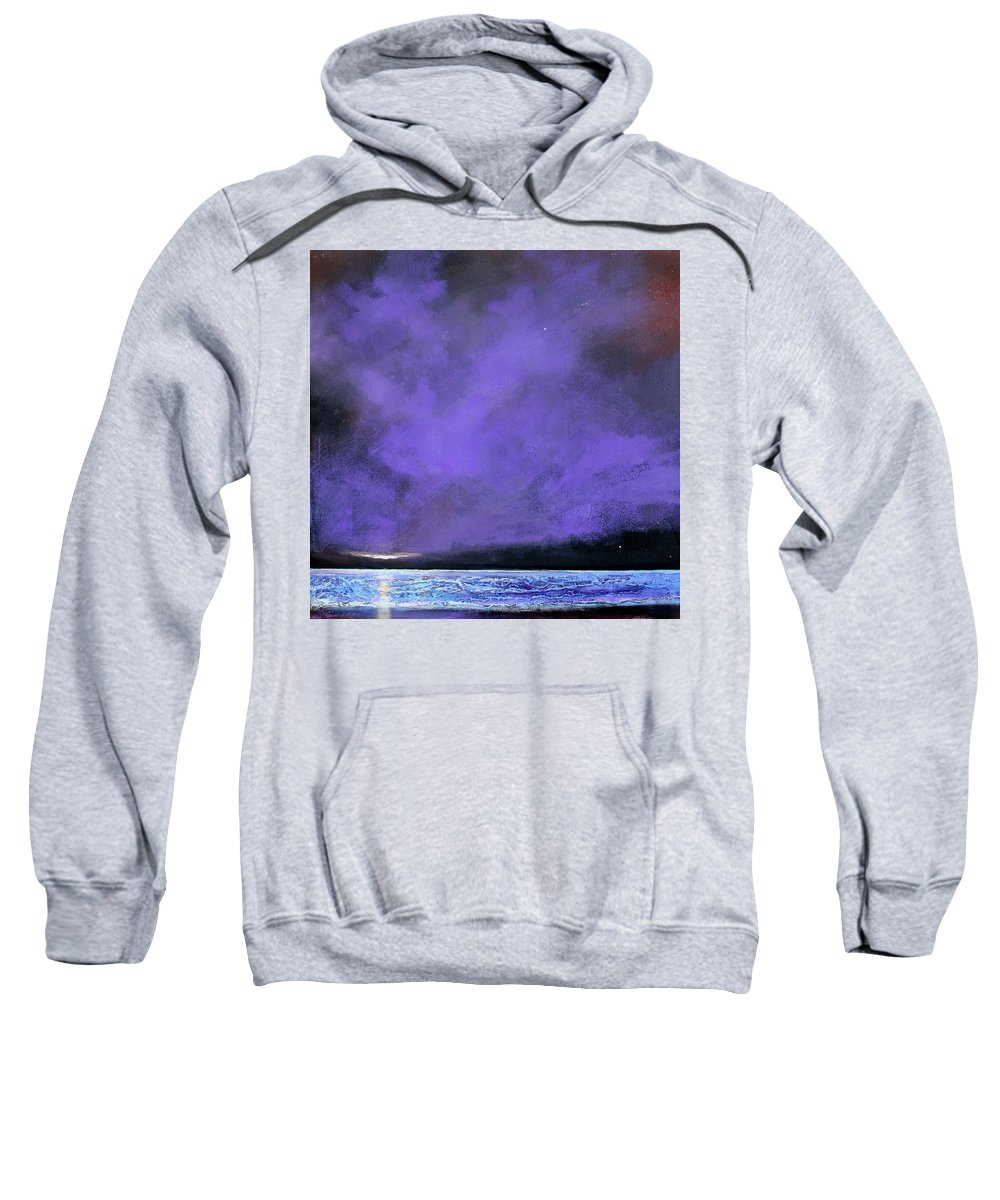 Landscape Sweatshirt featuring the painting Evenings End by Toni Grote