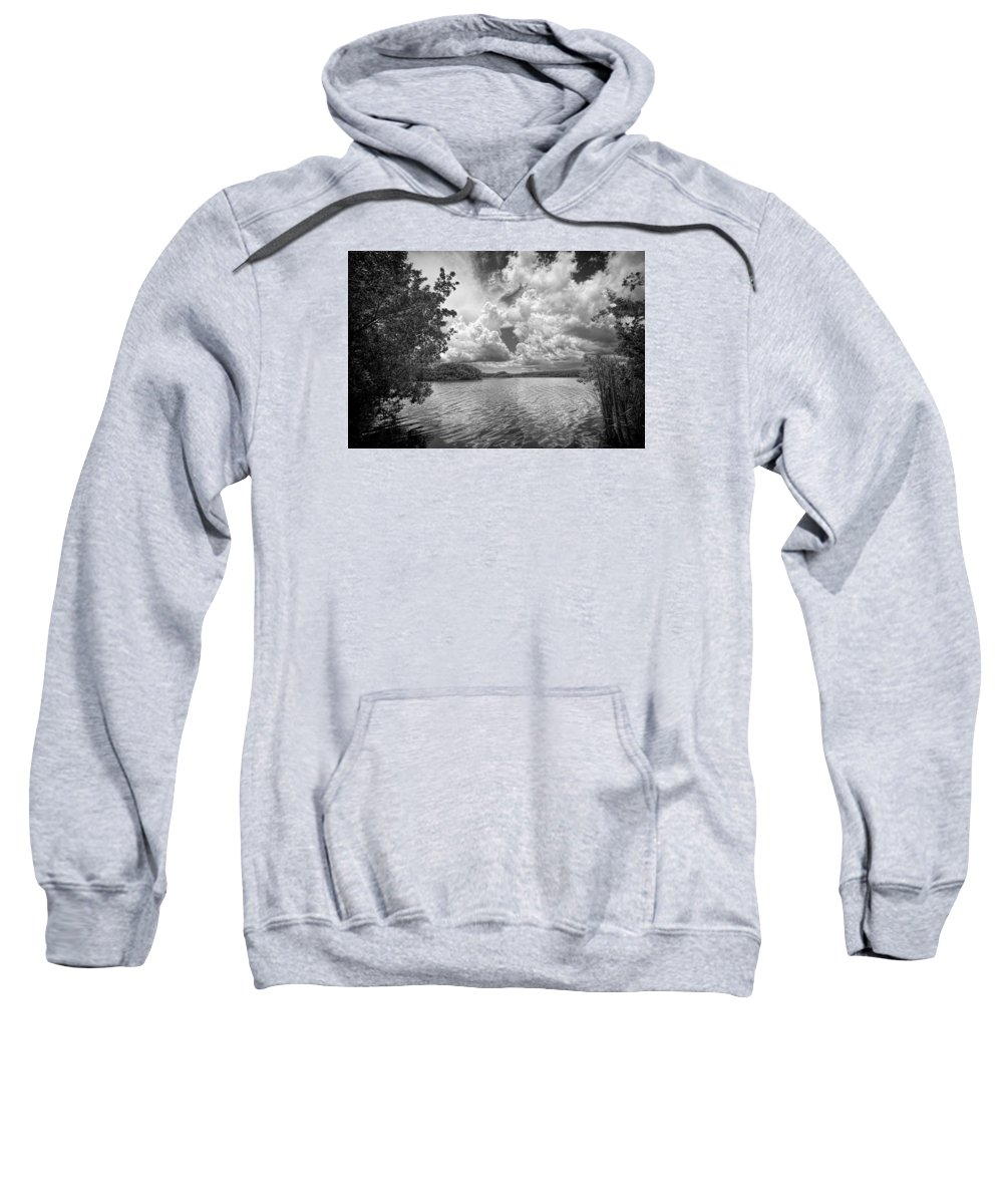 Everglades Sweatshirt featuring the photograph Everglades Lake - 0278abw by Rudy Umans