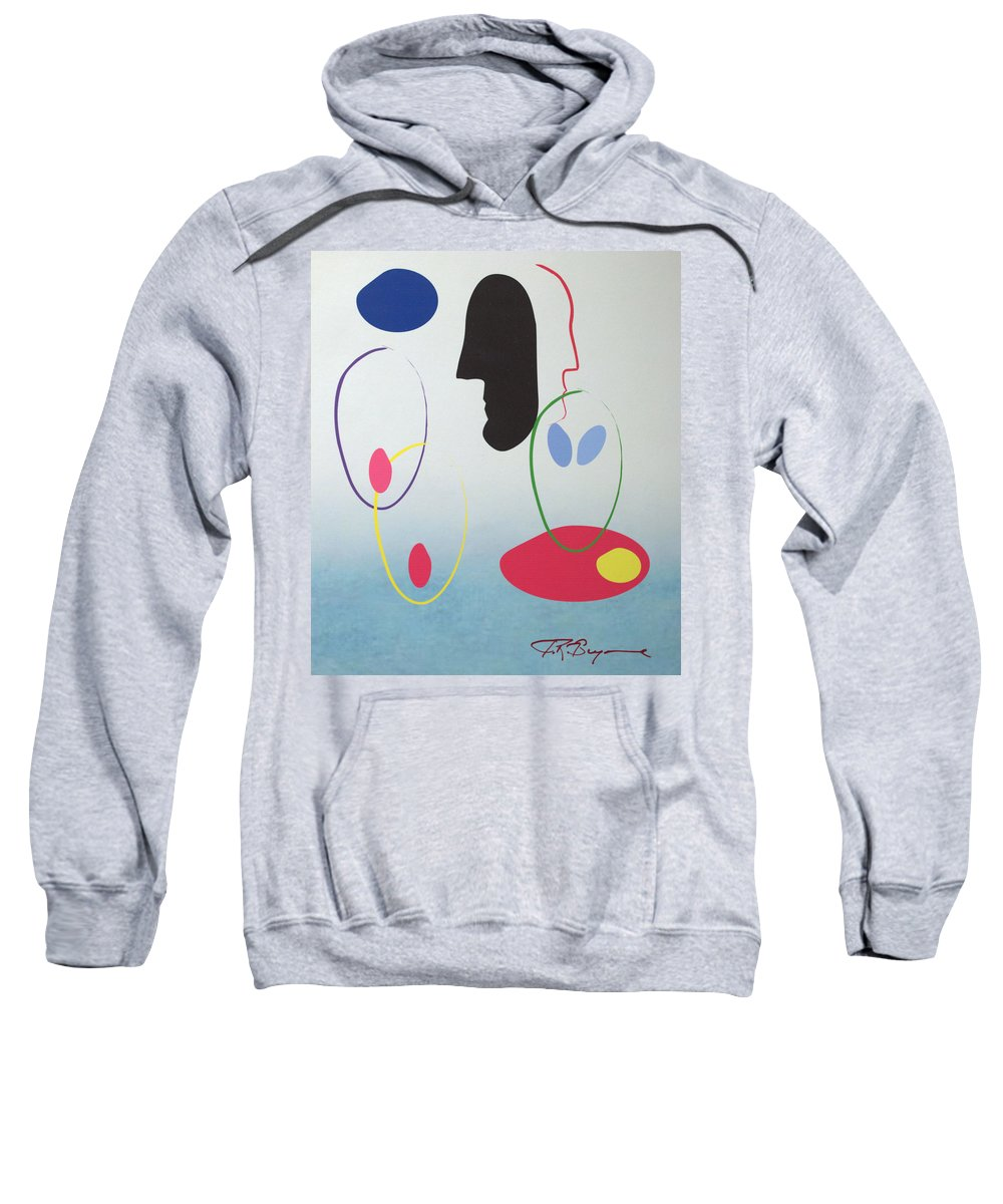 Digital Artwork Sweatshirt featuring the digital art Everyones Talking And No One's Listening by J R Seymour