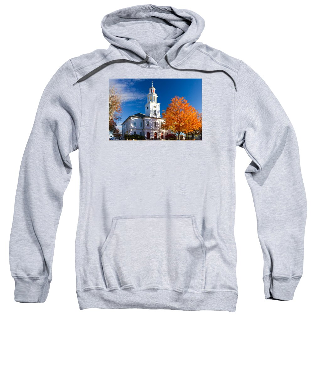 Exeter Sweatshirt featuring the photograph Exeter Congregational Church by Jim Hayes