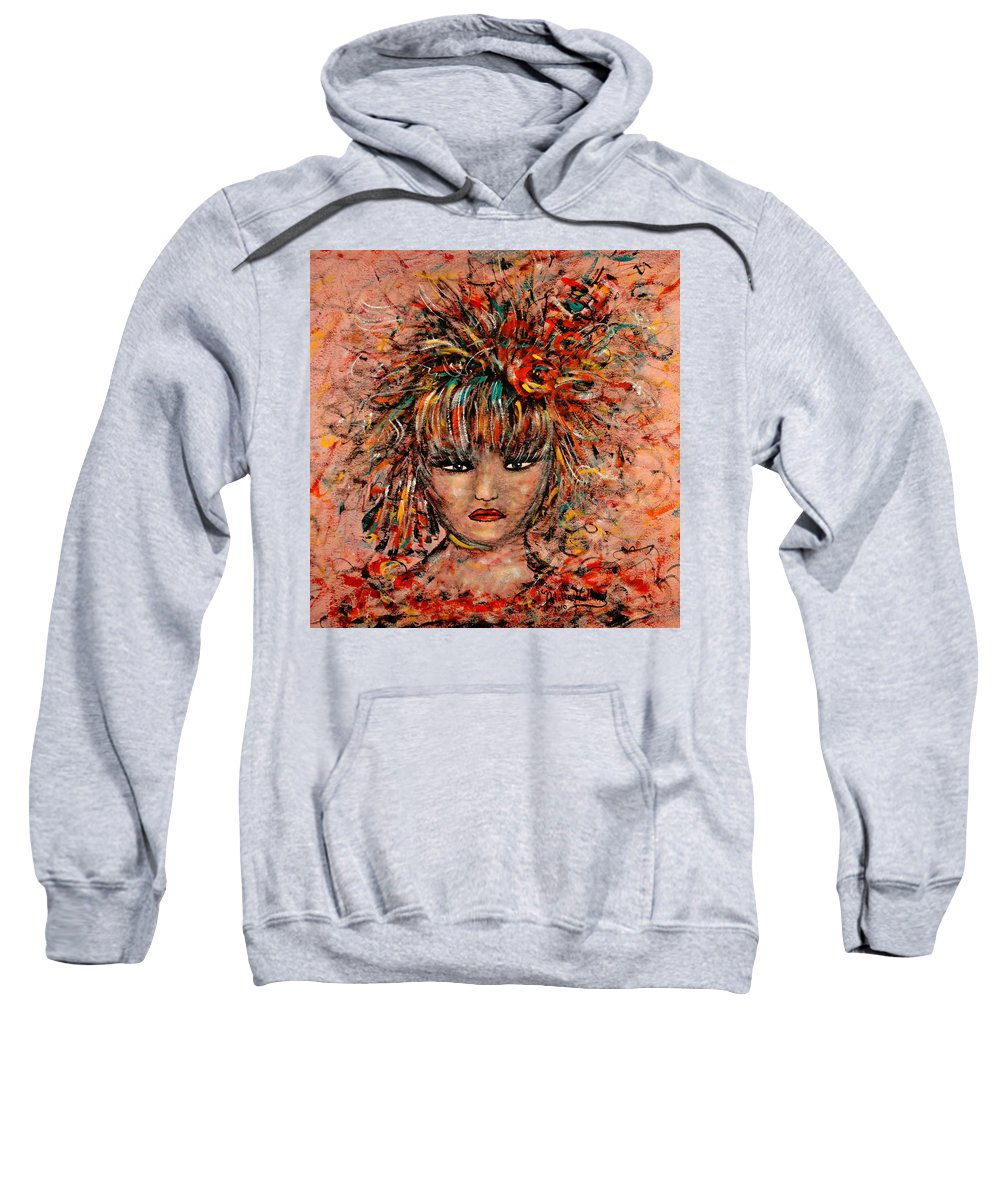 Exotic Dancer Sweatshirt featuring the painting Exotic Dancer by Natalie Holland