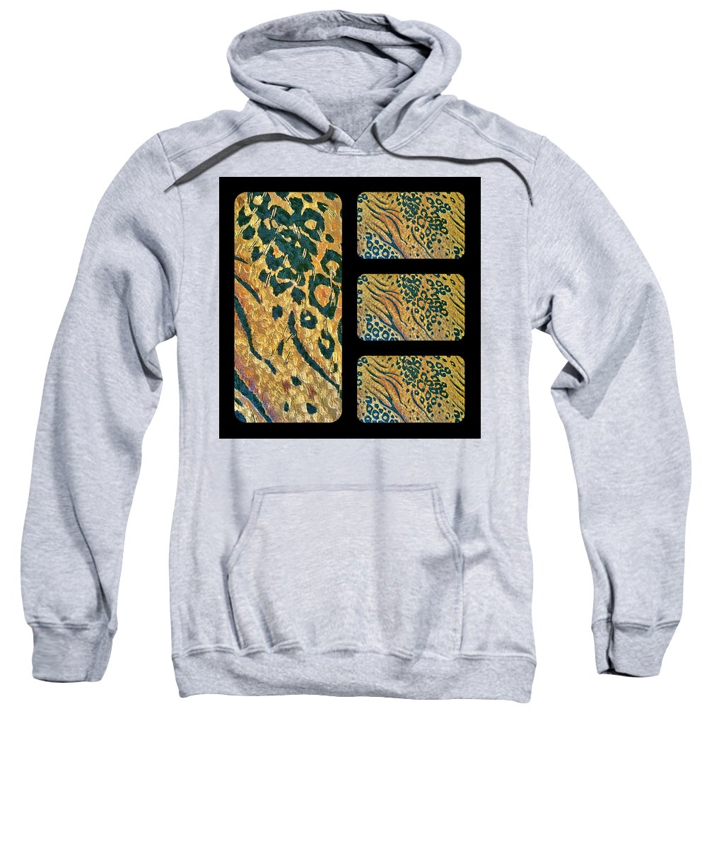 Patterns Sweatshirt featuring the digital art Exotic Repetitions by Linda McAlpine