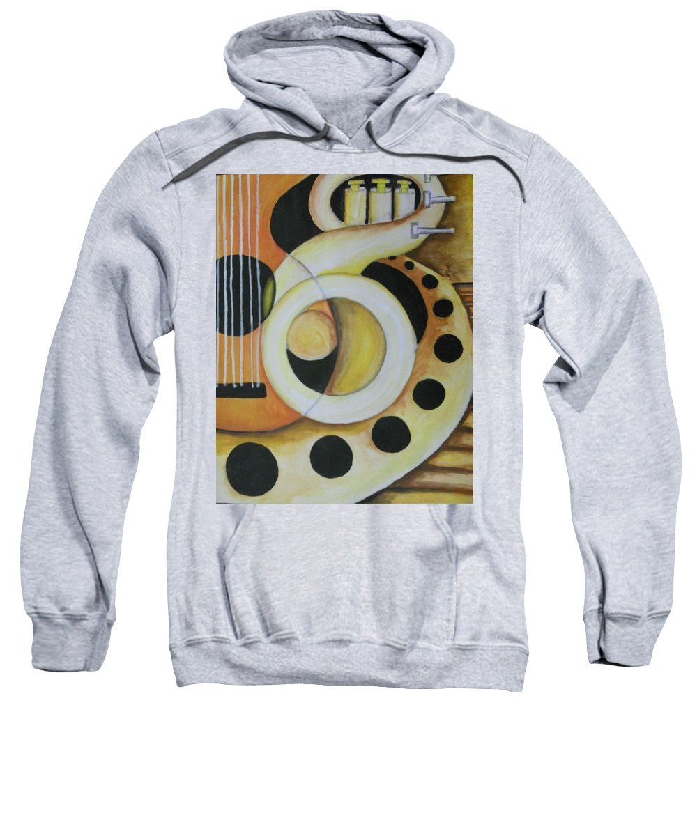 Abstract Sweatshirt featuring the painting Exotic Rhythm 1 by William Mutua