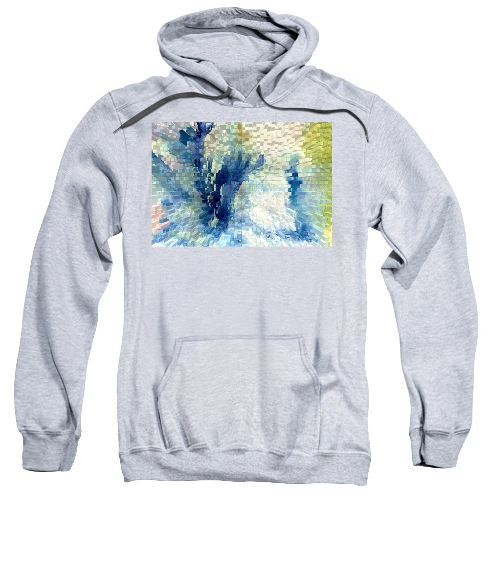 Abstract Sweatshirt featuring the painting Extrude by Steve Karol