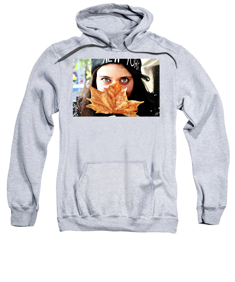 Sweatshirt featuring the photograph Eye Piecing by Abigail Eremic
