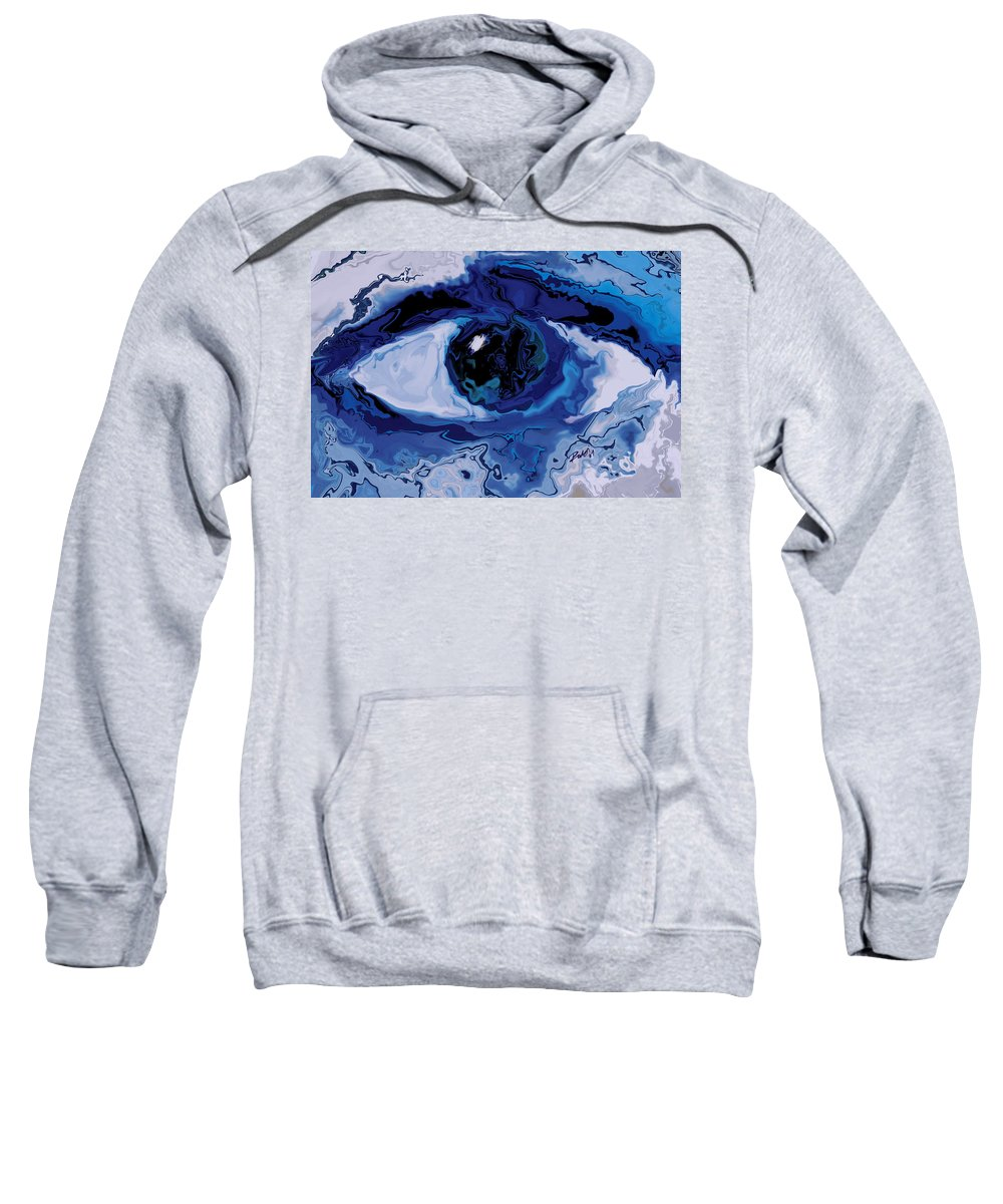 Eye Sweatshirt featuring the digital art Eye by Rabi Khan