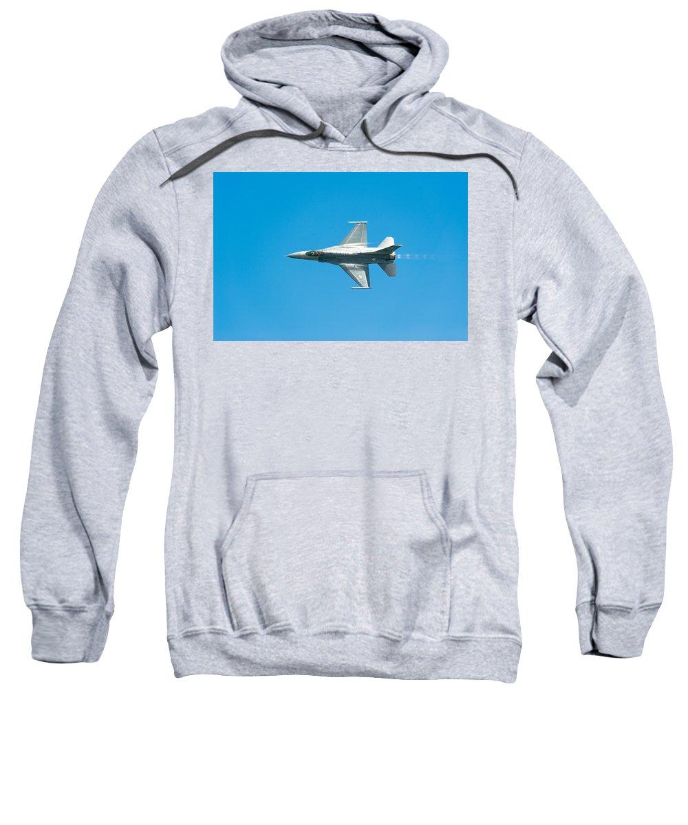 Major David Graham Sweatshirt featuring the photograph F-16 Full Speed by Sebastian Musial