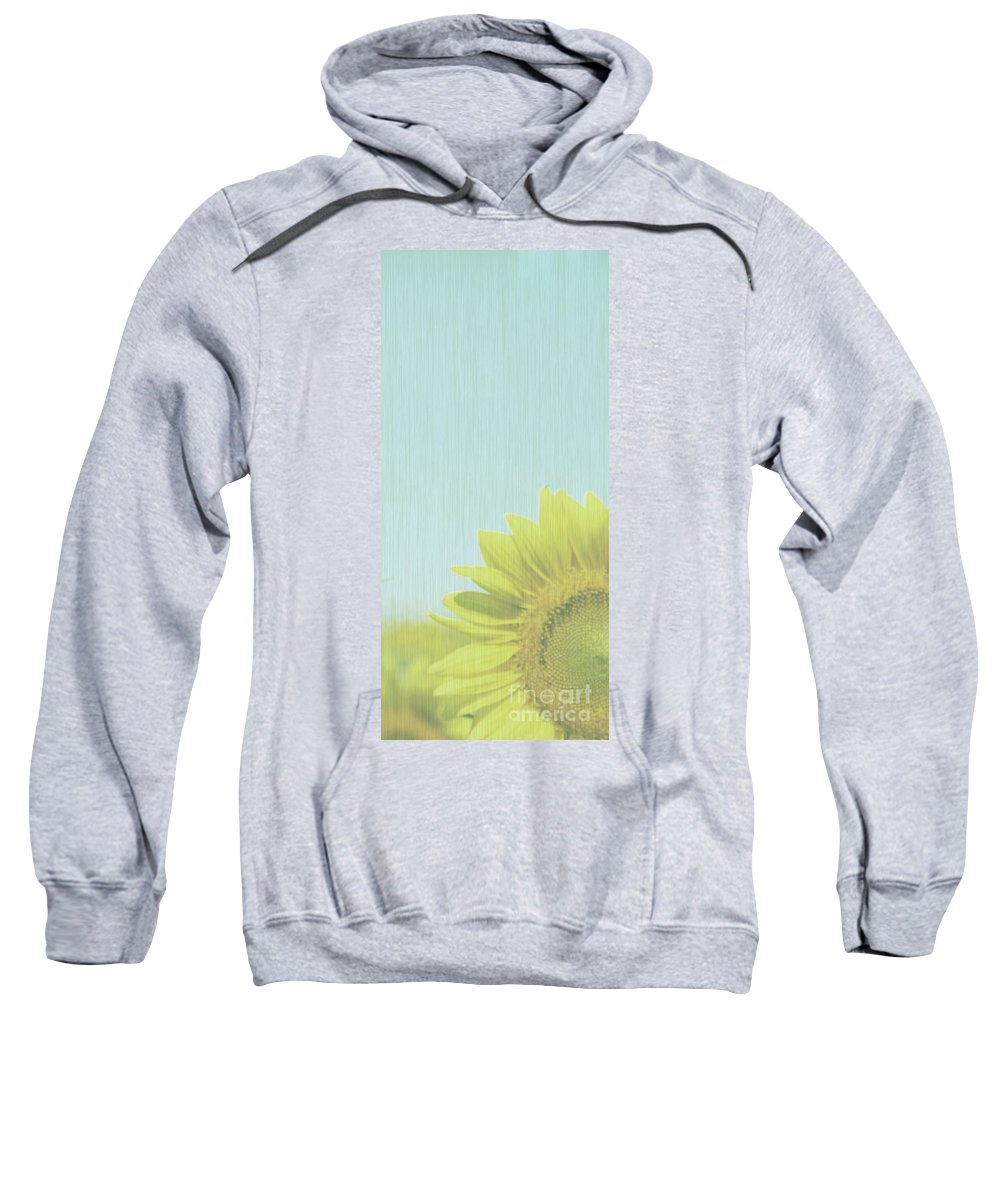 Sunflowers Sweatshirt featuring the photograph Faded by Amanda Barcon
