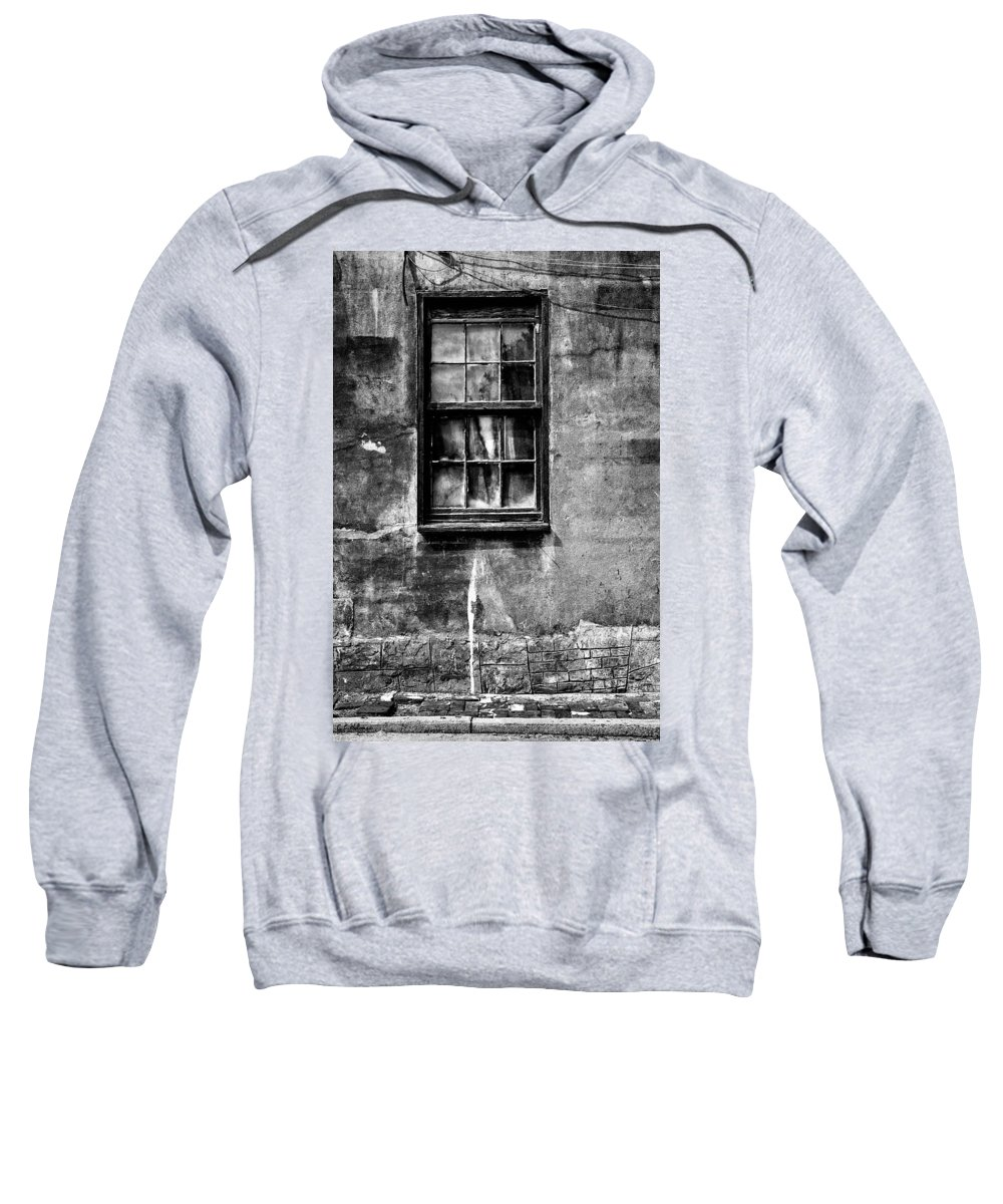 Monochrome Sweatshirt featuring the photograph Faded With Time II B-w by Christopher Holmes