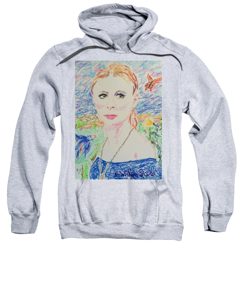 Fairy Queen Sweatshirt featuring the drawing Fairy Queen by N Willson-Strader