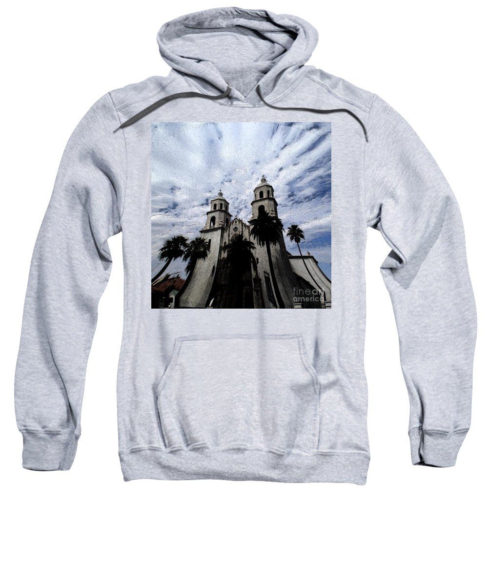 Cathedral Sweatshirt featuring the photograph Faith Arizona by Linda Shafer