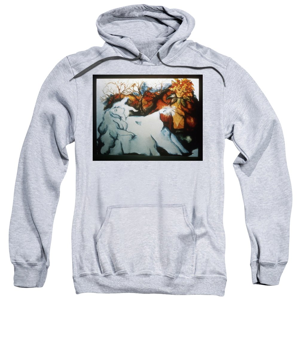 Seasons Sweatshirt featuring the painting Fall And Winter by Marilyn Green