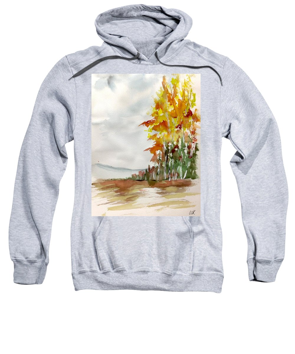 Watercolour Landscape Painting Sweatshirt featuring the painting Fall Colour No. 1 by Desmond Raymond