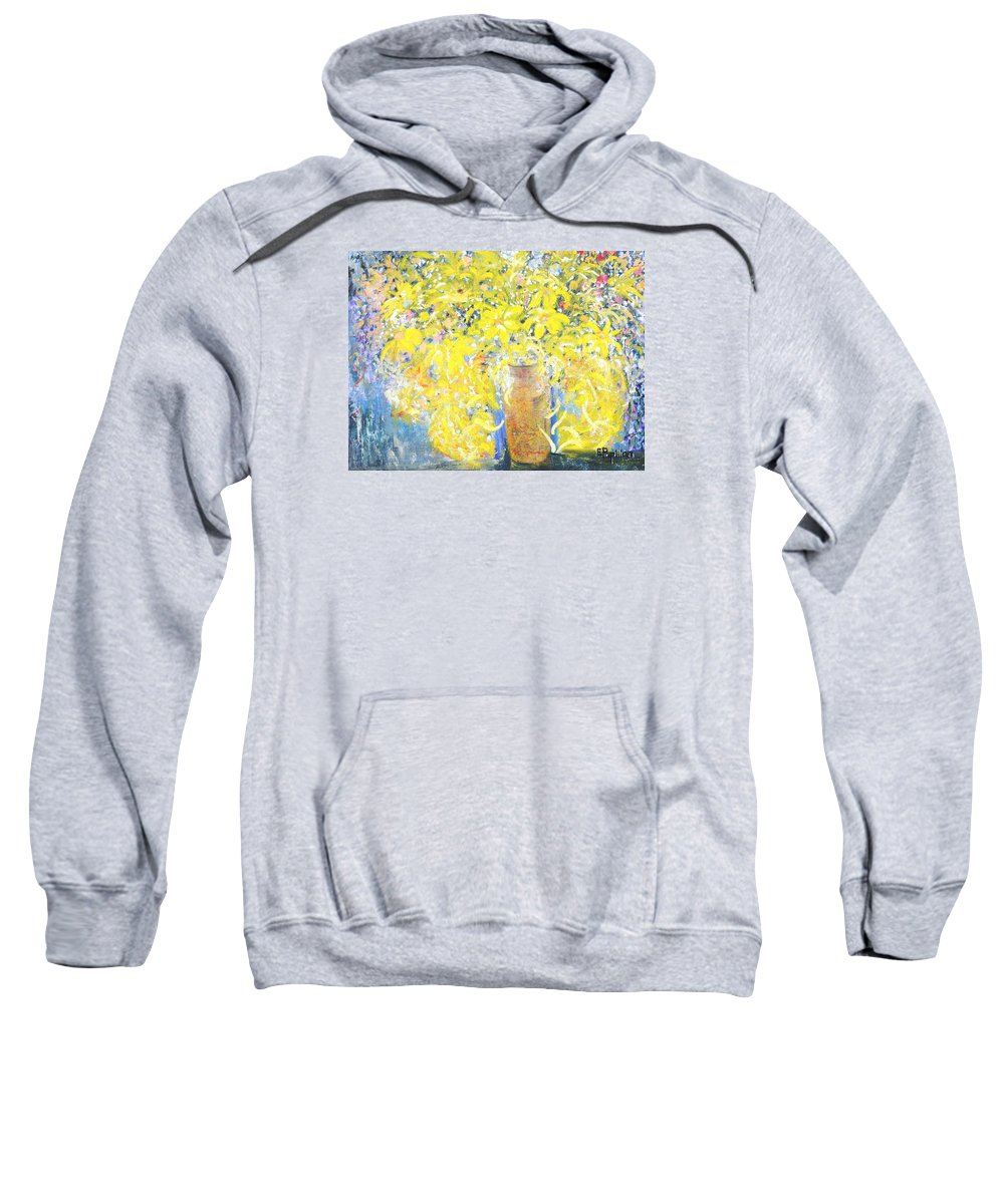 Flowers Sweatshirt featuring the painting Fall Delight by Evelina Popilian