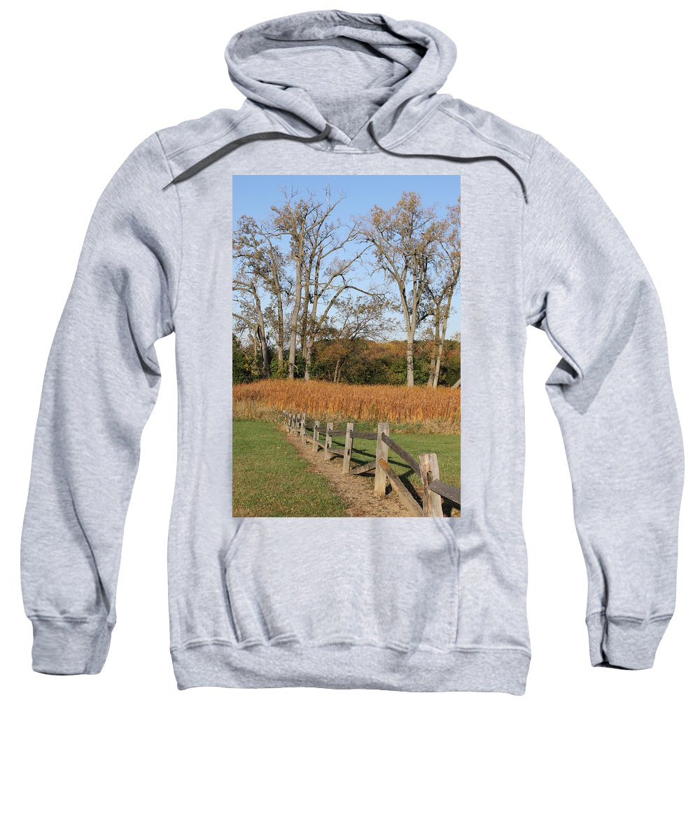 Fence Sweatshirt featuring the photograph Fall Fence by Lauri Novak