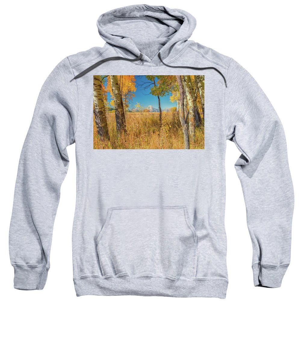 Luis Ramirez Sweatshirt featuring the photograph Fall From Oxbow Bend In Grand Tetons by Luis A Ramirez