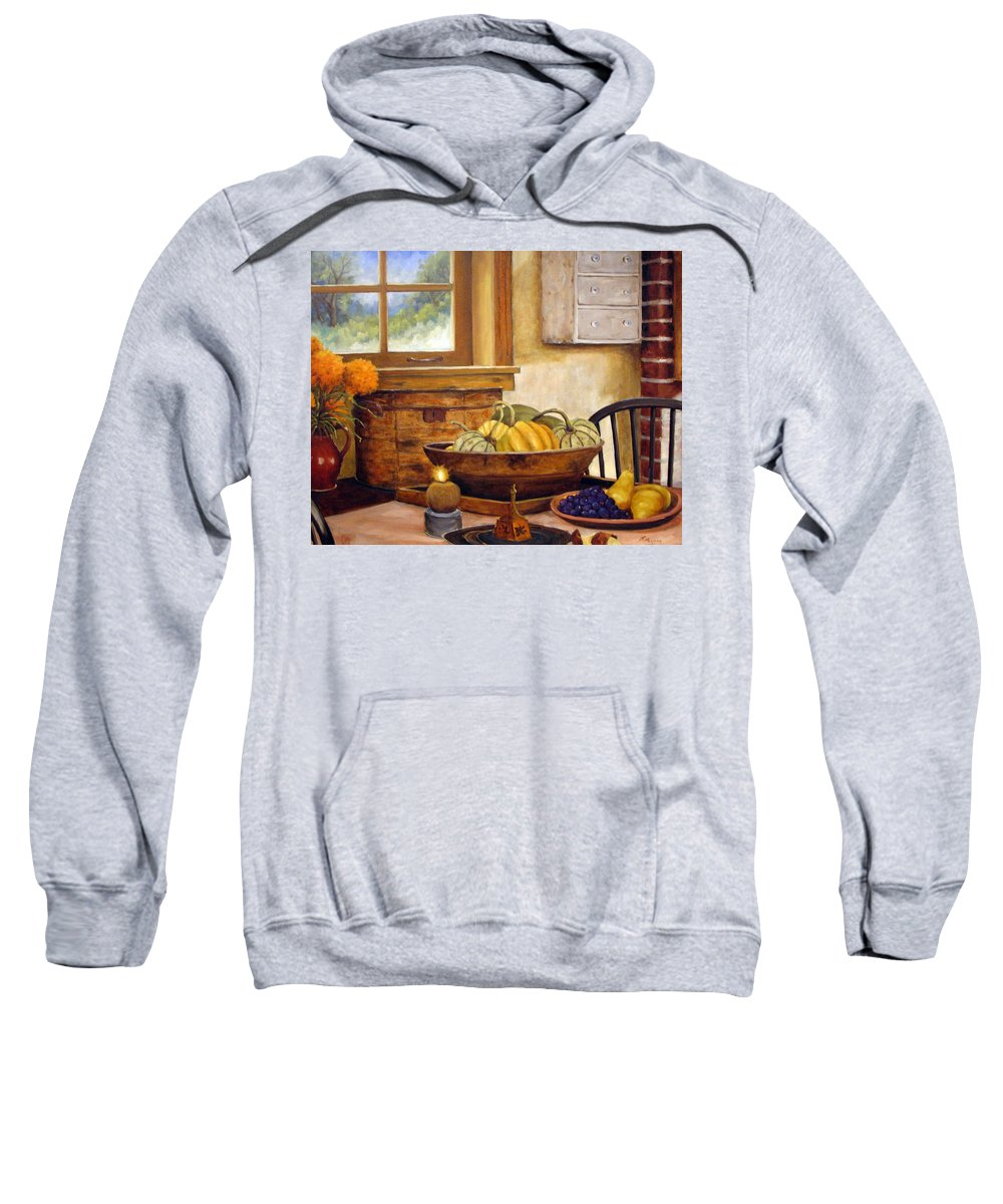 Fall Sweatshirt featuring the painting Fall Harvest by Richard T Pranke