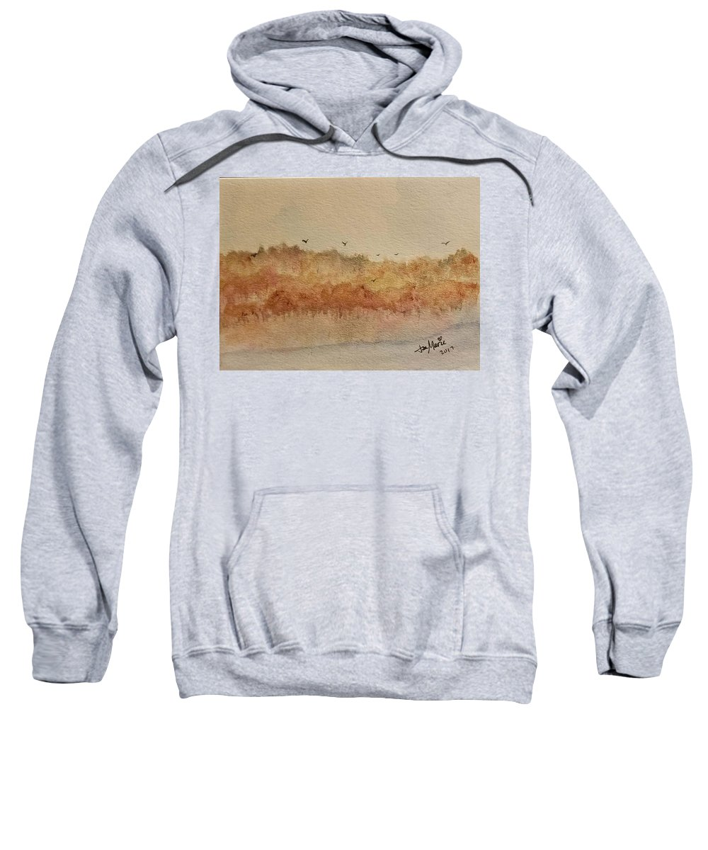 Sweatshirt featuring the painting Fall Lake by Jan Marie