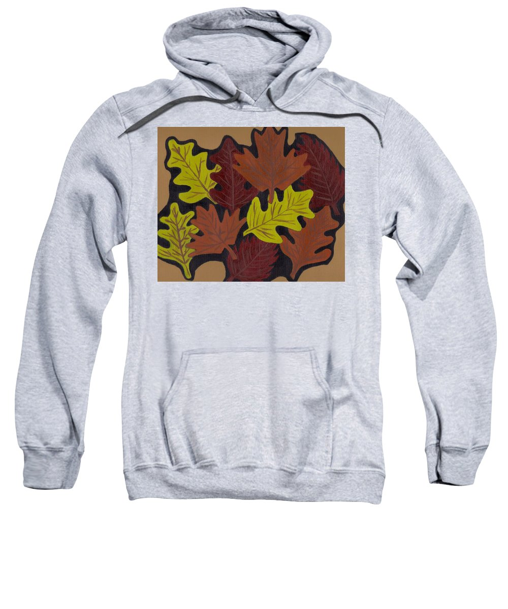 Leaves Sweatshirt featuring the painting Fall Leaves by Jill Christensen