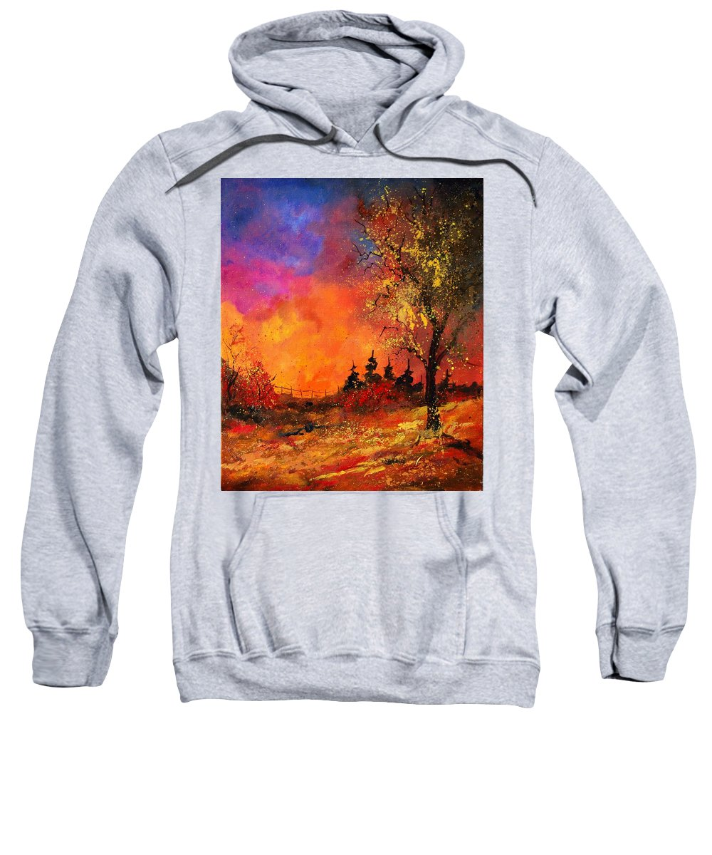 River Sweatshirt featuring the painting Fall by Pol Ledent