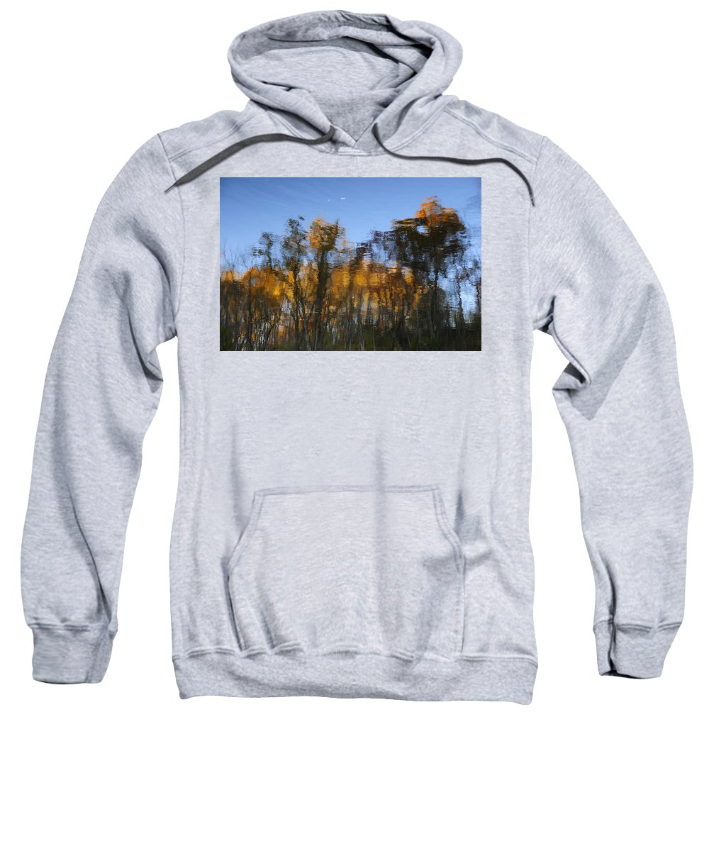 Sweatshirt featuring the photograph Fall Trees Reflected by David Arment