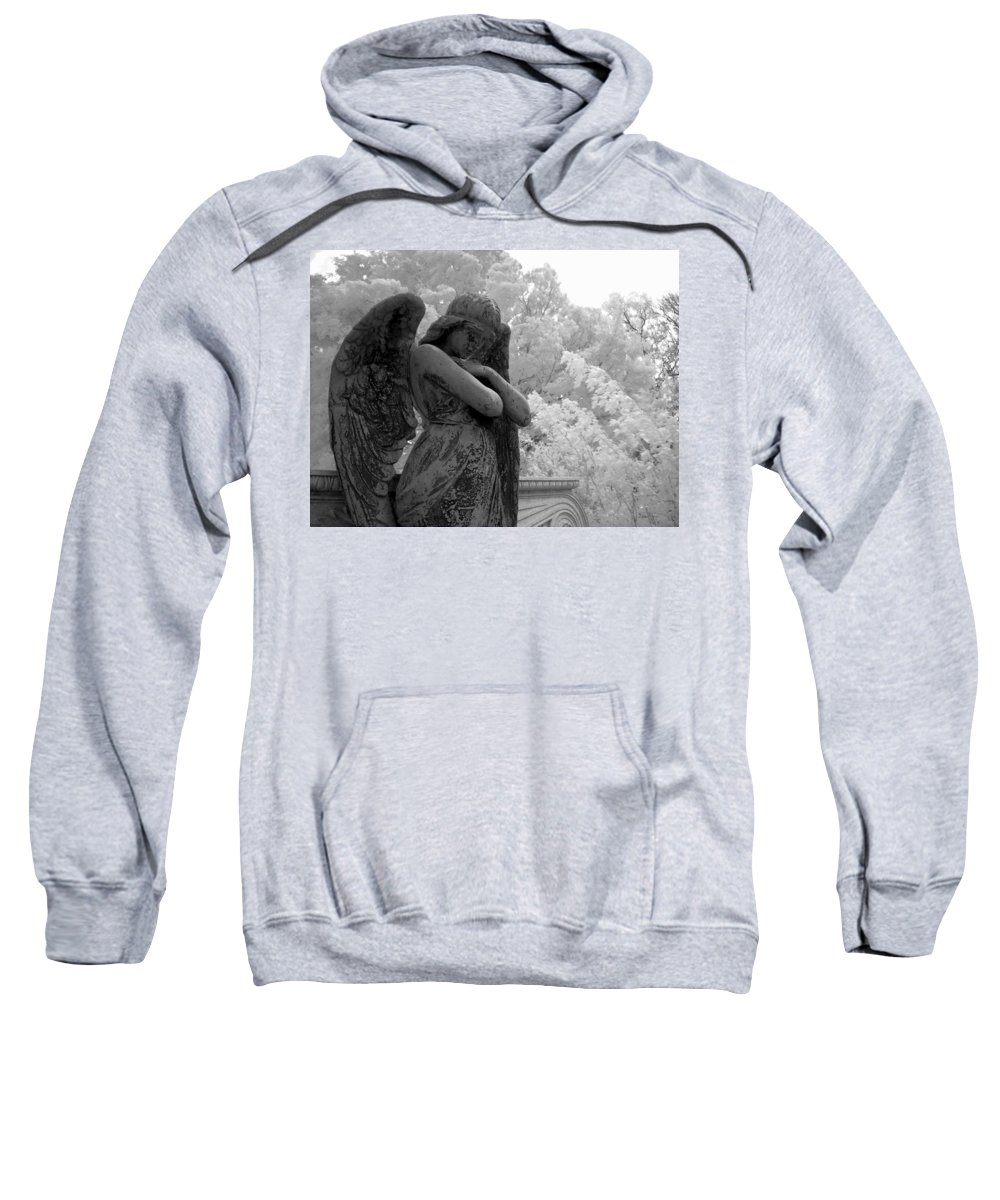 Infrared Photography Sweatshirt featuring the photograph Fallen Angel by Jane Linders