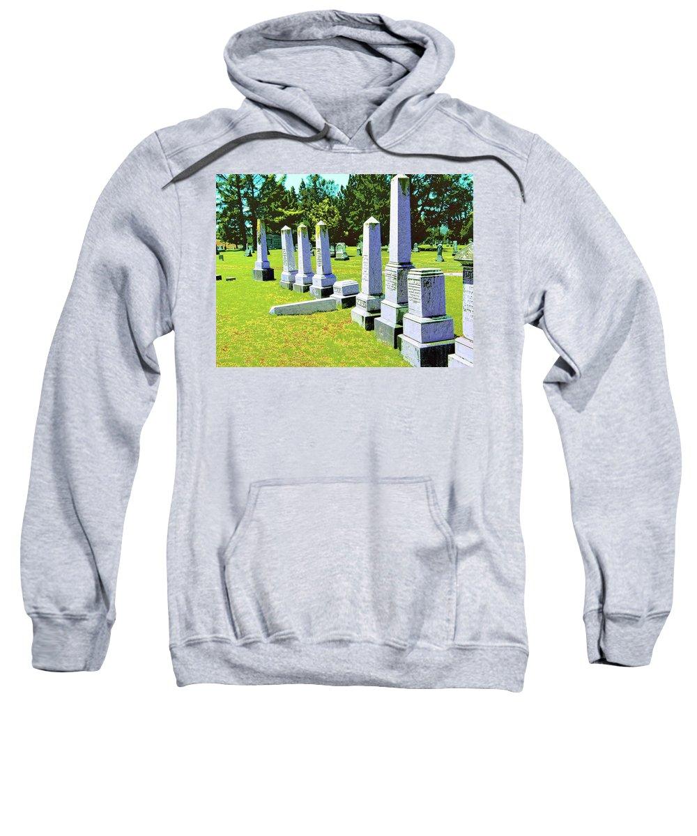 Fallen Sweatshirt featuring the mixed media Fallen by Dominic Piperata